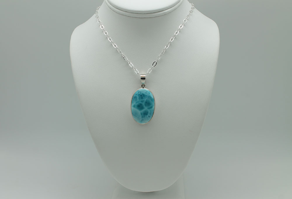 Goddess within larimar necklace 1840 sun spirit gems oval larimar necklace ssg1840 aloadofball Image collections