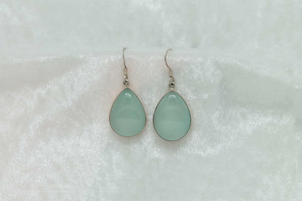 Green Chalcedony Earrings 1765