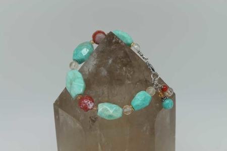 Amazonite Agate Bracelet #2600 /zoom