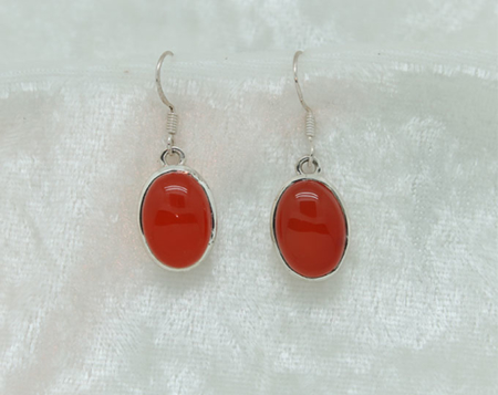 Carnelian Oval Earrings 2602 zoom