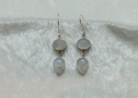 Moonstone Double Earrings 2731