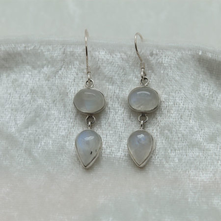 Moonstone Double Earrings 2731