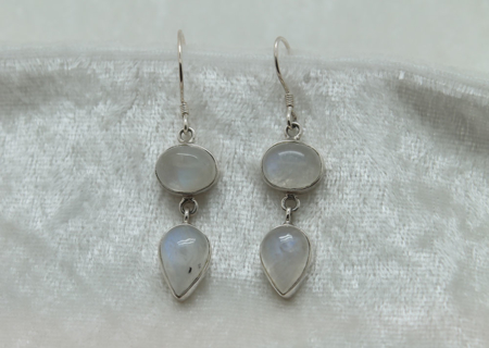 Moonstone Double Earrings 2731 zoom