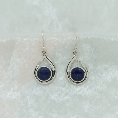 Lapis Lazuli Tear Drop Earrings 2908