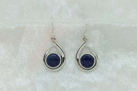 Lapis Lazuli Tear Drop Earrings 2908 zoom