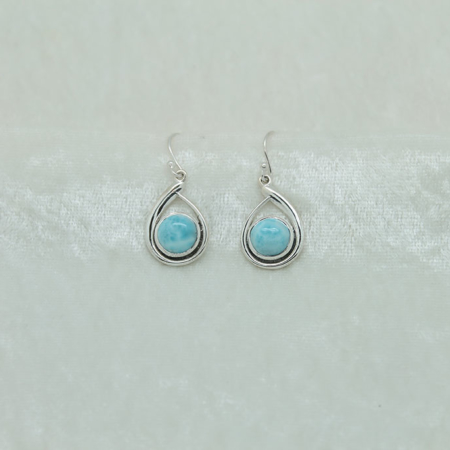 Larimar Oval Earrings 2992