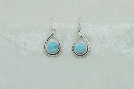 Larimar Oval Earrings 2992 zoom