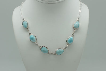 Larimar Necklace 6 Stone 3085 zoom