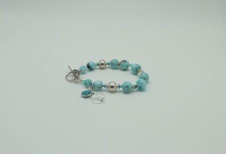 Larimar Swarovski Crystals Bracelet #3088