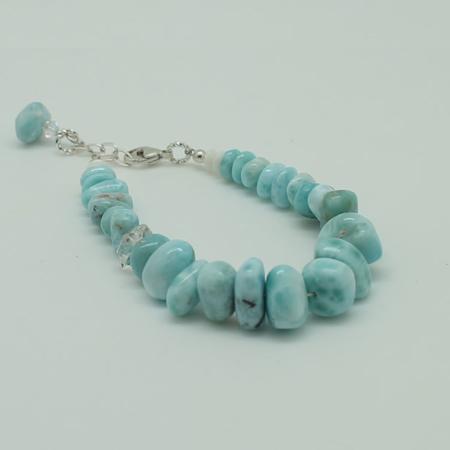 Larimar Herkimer Diamond Bracelet #3089
