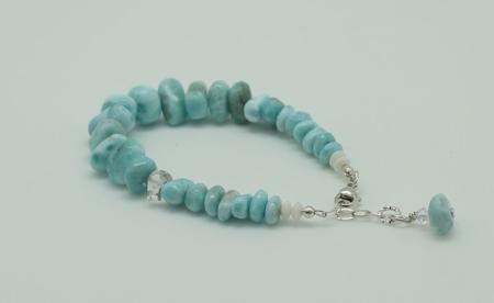 Larimar Herkimer Diamond Bracelet #3089 zoom