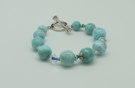 Larimar Swarovski Crystals Bracelet #3090 zoom