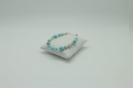 Larimar Pearl Accents Bracelet #3091