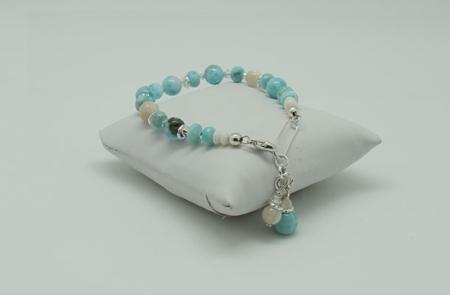 Larimar Pearl Accents Bracelet #3091 Full