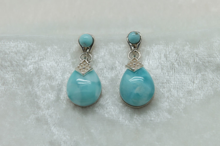 Larimar Large Tear Drop Earrings 3151 zoom