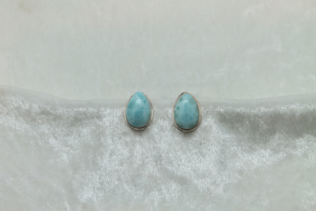 Larimar Tear Drop Earrings 3152