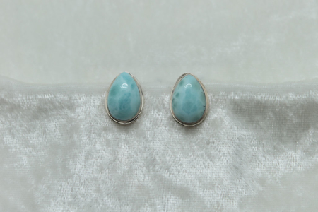 Larimar Tear Drop Earrings 3152 zoom