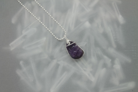 Amethyst Stone Necklace #3171
