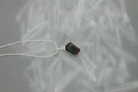 Blue Tiger Eye Stone Necklace 3172