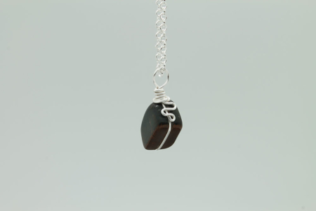 Blue Tiger Eye Stone Necklace 3172 zoom