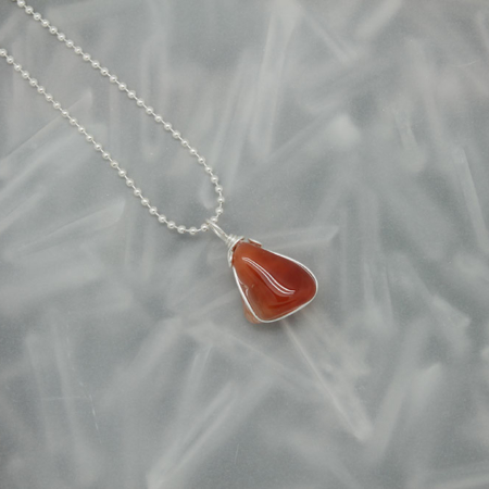Carnelian stone necklace 3174