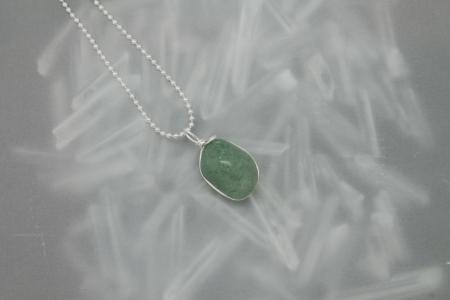 Green Aventurine Stone Necklace 3176