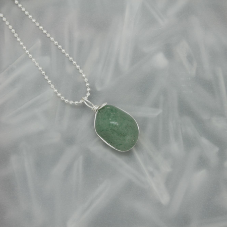 Green Aventurine Stone Necklace 3176