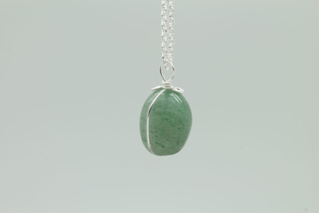 Green Aventurine Stone Necklace 3176 zoom