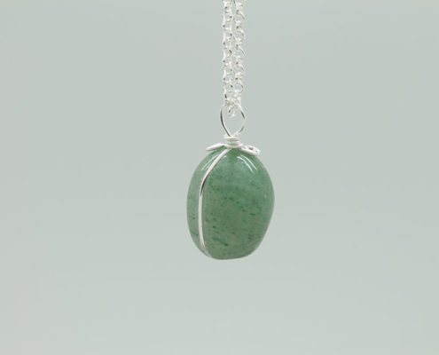 Green Aventurine Stone Necklace 3176 zoom