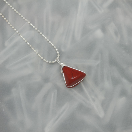 Red Jasper Stone Necklace 3178