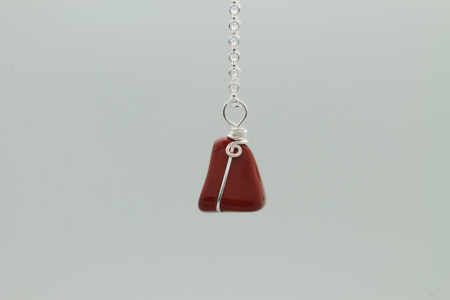 Red Jasper Stone Necklace 3178 zoom