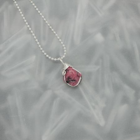 Rhodonite Stone Necklace 3179