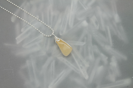 Yellow Citrine Stone Necklace 3181