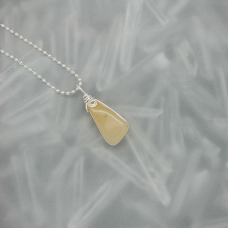 Yellow Citrine Stone Necklace 3181