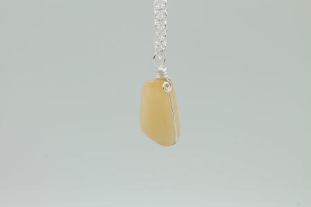 Yellow Citrine Stone Necklace 3181 z00m
