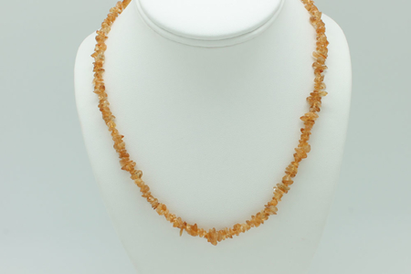 Citrine Chip Necklace 3222 zoom