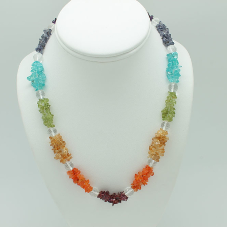 Chakra Chip Necklace Double Strand 3224