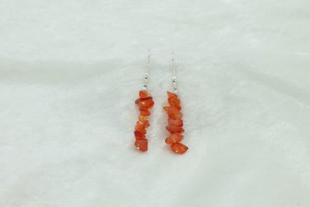 Carnelian Chip Earrings 3226