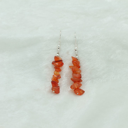Carnelian Chip Earrings 3226