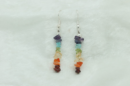 Chakra Chip Earrings - All Chakras 3227 zoom