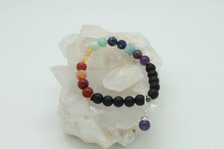 Black Onyx Chakra Bracelet 3234