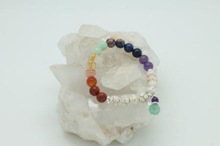 Howlite Chakra Bracelet 3236
