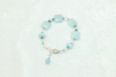 Aquamarine Sterling Silver Bracelet #1008