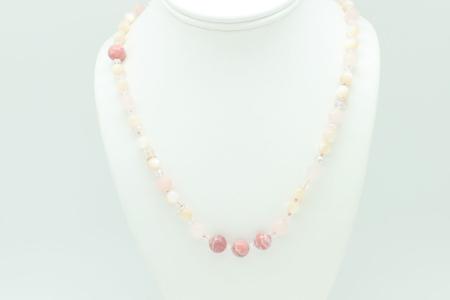 Rose Quartz, Pearl, Rhodocrosite #2353 zoom