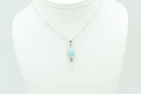 Larimar Small Tear Drop Crystal Dangle #2913 zoom