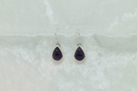 Amethyst Tear Drop Earrings #2923