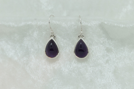 Amethyst Tear Drop Earrings #2923 zoom