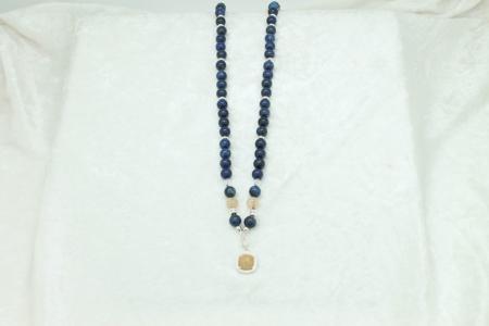 Lapis, Citrine, Yellow Garnet Necklace #3039