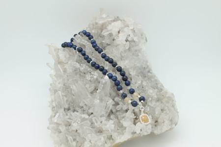 Lapis, Citrine, Yellow Garnet Necklace #3039 zoom