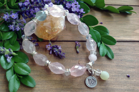 Rose Quartz, Fluorite Bracelet #3061